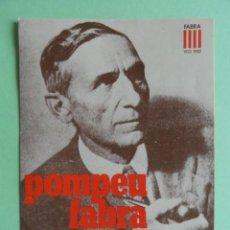 Postales: POSTAL POMPEU FABRA. 50 ANYS DE DICCIONARI. AÑO 1982.. Lote 289752348
