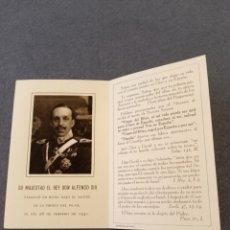 Postales: RECORDATORIO FALLECIMIENTO ALFONSO XIII. Lote 253164060