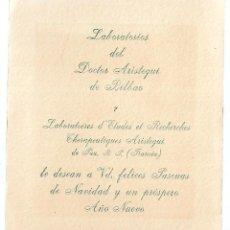 Postais: 1R-PUBLICIDAD -POSTAL ANTIGUA- LABORATORIOS DEL DR. ARISTEGUI DE BILBAO. Lote 262037940
