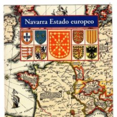 Postales: NAVARRA ESTADO EUROPEO. POSTAL PROMOCIÓN DEL LIBRO DE TOMÁS URZAINQUI (2004).. Lote 269328088
