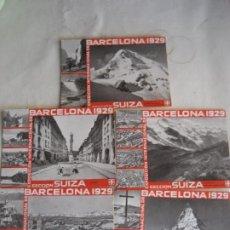 Postales: EXPOSICIÓN INTERNACIONAL DE BARCELONA. 1929. . SECCION SUIZA. 5 POSTALES. Lote 269814783