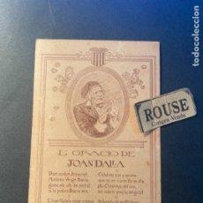 Postales: ANTIGUA POSTAL L'ORACIÓ DE JOAN DALLA - ANGEL GUIMERÀ - 14X9 CM.. Lote 270920358