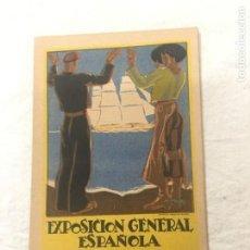 Postales: TARJETA POSTAL. EXPOSICIÓN GENERAL ESPAÑOLA. SEVILLA 1928. BARCELONA 1929. ILUST. DE CAVIEDES.. Lote 271637823