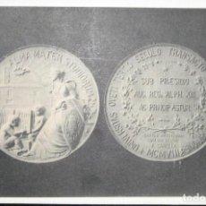 Postales: POSTAL DE LA MEDALLA CONMEMORATIVA DEL III CENTENARIO DE LA UNIVERSIDAD DE OVIEDO. 1908.. Lote 275563028
