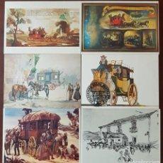 Postales: DILIGENCIAS LOTE DE 6 TARJETAS POSTALES CORREOS DE PORTUGAL. Lote 277187353