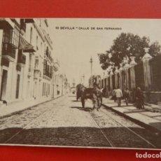 Postales: ANTIGUA POSTAL CALLE SAN FERNANDO - SEVILLA .. Lote 282974528