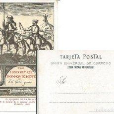Postales: POSTAL DON QUIJOTE DE LA MANCHA, PORTADA DE LA 1ª EDICIÓN PUBLICADA EN INGLÉS, LONDRES 1620. Lote 285303898