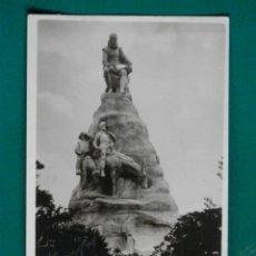 Postales: CERVANTES Y EL QUIJOTE RARA POSTAL FOTOGRÁFICA AÑO 1916 MONUMENTO EN PANAMÁ. Lote 293301818