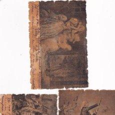 Postales: LOTE DE 3 POSTALES HISTORIA FRANCESA. FRANCIA. REVERSO SIN DIVIDIR.. Lote 293446543