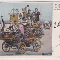 Postales: POSTAL CON EL REY DE ESPAÑA. LE CLOU REV DE L´EXPOSITION DE 1900 A PARIS.T. BIANCO 1900. Lote 293456293