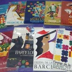 Postales: POSTAL BARCELONA FIESTAS DE LA MERCED LOTE DE 9 POSTALES DE DIVERSOS AÑOS. Lote 294959048