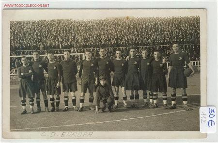 POSTAL INEDITA C.D.EUROPA AÑOS 20 (Coleccionismo Deportivo - Postales de otros Deportes )
