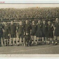 Coleccionismo deportivo: POSTAL INEDITA C.D.EUROPA AÑOS 20. Lote 22397751