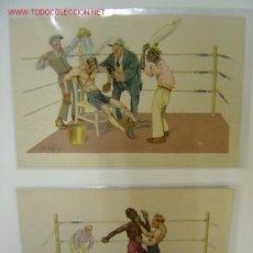 Coleccionismo deportivo: 2 ESCENEAS DE BOXEO. Lote 21271129