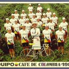 Coleccionismo deportivo: CICLISMO. EQUIPO CAFÉ DE COLOMBIA 1987.. Lote 25961277