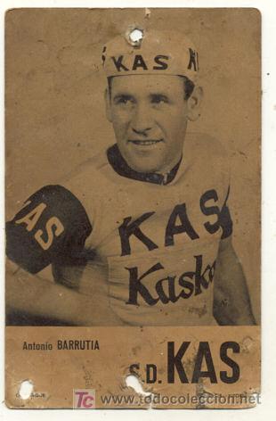 ANTIGUA POSTAL // ANTONIO BARRUTIA // KAS KASKOL // CICLISMO (Coleccionismo Deportivo - Postales de otros Deportes )