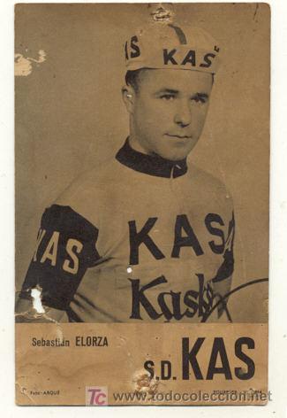 ANTIGUA POSTAL // SEBASTIAN ELORZA // KAS KASKOL // CICLISMO (Coleccionismo Deportivo - Postales de otros Deportes )