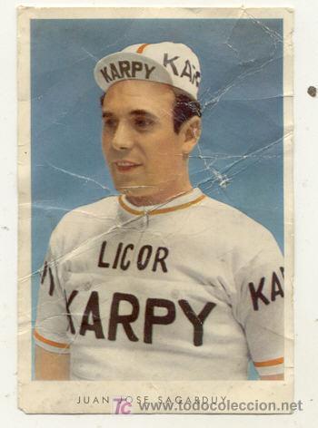 ANTIGUA POSTAL // JUAN JOSE SAGARDUY // LICOR KARPY // CICLISMO (Coleccionismo Deportivo - Postales de otros Deportes )
