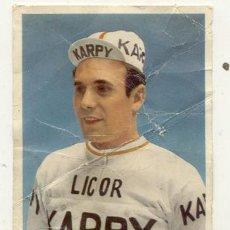 Coleccionismo deportivo: ANTIGUA POSTAL // JUAN JOSE SAGARDUY // LICOR KARPY // CICLISMO . Lote 23237399
