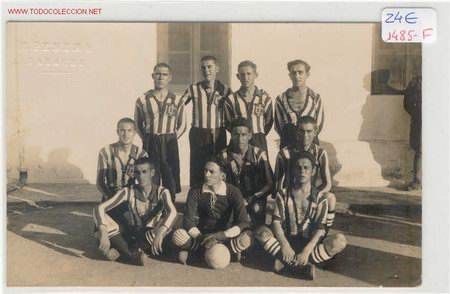 POSTAL EQUIPO AÑOS 20 EN LARACHE (Coleccionismo Deportivo - Postales de otros Deportes )