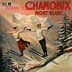 Coleccionismo deportivo: POSTAL DE ESQUI CHAMONIX MONT-BLANC 198O. Lote 1822966