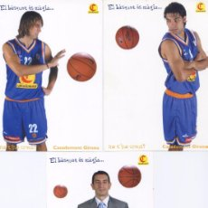 Coleccionismo deportivo: LOTE 3 POSTALES BALONCESTO *CLUB CASADEMONT GIRONA*- SERGI GRIMAU, LUCAS VICTORIANO, EDU TORRES. Lote 23972664