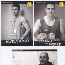Coleccionismo deportivo: LOTE 3 POSTALES JUGADORES *BASKET CASADEMONT GIRONA*- RAFA JOFRESA, TONI ESPINOSA Y JUAN LLANEZA. Lote 23972667
