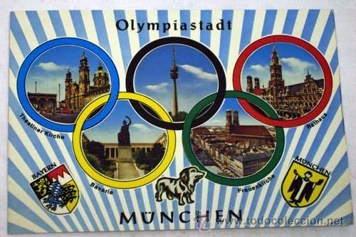 POSTAL XX OLIMPIADAS MUNICH OLYMPIADE MÜNCHEN 1972 OLYMPIASTADT (Coleccionismo Deportivo - Postales de otros Deportes )