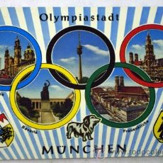 Coleccionismo deportivo: POSTAL XX OLIMPIADAS MUNICH OLYMPIADE MÜNCHEN 1972 OLYMPIASTADT. Lote 12255693
