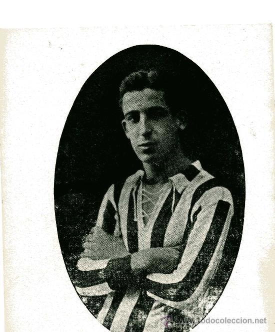 FOTO EN CARTULINA DE VILLAVERDE,SOBRE 1912 ,DEL SPORTING DE GIJON. (Coleccionismo Deportivo - Postales de otros Deportes )