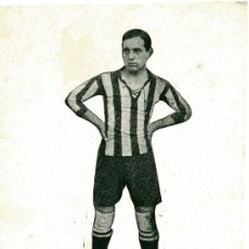 Coleccionismo deportivo: FOTO EN CARTULINA DE UN FUTBOLISTA ,SOBRE 1912 ,DE UN EQUIPO DE GIJON.. Lote 25252929