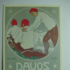 Coleccionismo deportivo: 3065 ESQUI SKY DAVOS SUIZA CARTELES COPIA REPRO AÑOS 1980 - MAS DE ESTA CIUDAD EN MI TIENDA C&C. Lote 16548895