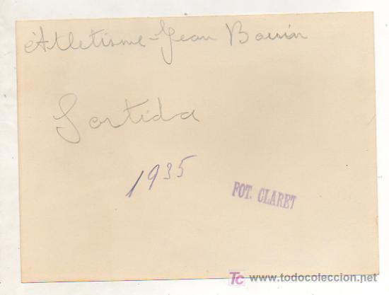Coleccionismo deportivo: FOTOGRAFÍA ORIGINAL. 1935. ATLETISMO. CARRERA JEAN BOUIN. MOMENTO DE LA SALIDA. 13 X 18 CM. - Foto 2 - 16557745