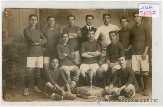 (5169-F)POSTAL FOTOGRAFICA EQUIPO FOOT-BALL F.C.ESPAÑA AÑO 1909 (Coleccionismo Deportivo - Postales de otros Deportes )