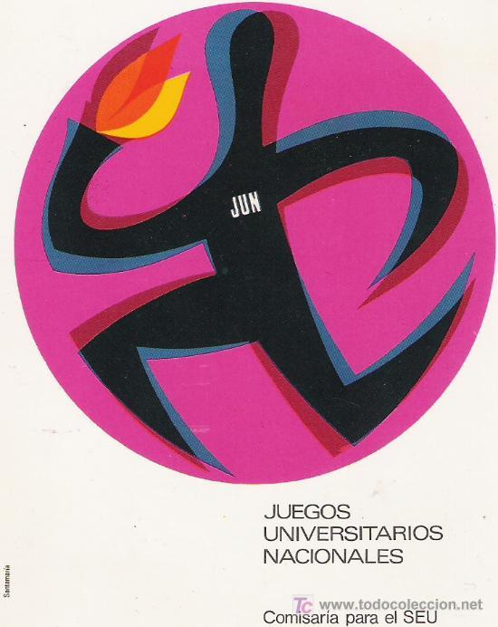 JUN - JUEGOS UNIVERSITARIOS NACIONALES - COMISARIA PARA EL SEU - (Coleccionismo Deportivo - Postales de otros Deportes )