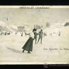 Coleccionismo deportivo: LES SPORTS - LE PATINAGE - CHOCOLAT LOMBART. Lote 24186559
