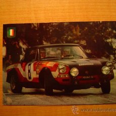 Coleccionismo deportivo: POSTAL SERIE AUTOMOVILES RALLYE Nº 4 FIAT 124 SPIDER (VERSION RALLY MONTECARLO). Lote 20421523