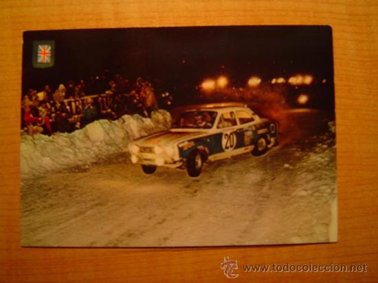 POSTAL SERIE AUTOMOVILES RALLYE Nº 9 FORD ESCORT (VERSION RALLY MONTECARLO) (Coleccionismo Deportivo - Postales de otros Deportes )