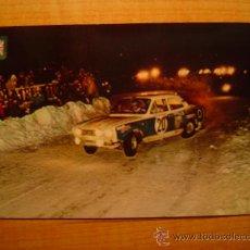 Coleccionismo deportivo: POSTAL SERIE AUTOMOVILES RALLYE Nº 9 FORD ESCORT (VERSION RALLY MONTECARLO). Lote 20421561