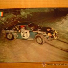 Coleccionismo deportivo: POSTAL SERIE AUTOMOVILES RALLYE Nº 8 ALPINE RENAULT A 110 (VERSION RALLY MONTECARLO). Lote 20421621