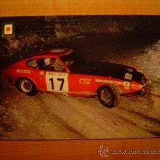 Coleccionismo deportivo: POSTAL SERIE AUTOMOVILES RALLYE Nº DATSUN 240 Z (VERSION RALLY MONTECARLO). Lote 20421634