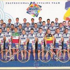 Coleccionismo deportivo: POSTAL DEL EQUIPO CICLISTA MAPEI DEL AÑO 1999, SPONSOR EN EL REVERSO.. Lote 27416401