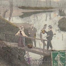 Coleccionismo deportivo: PESCADORES, CIRCULADA EN 1911. Lote 22405616