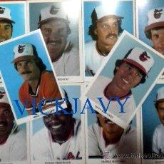 Coleccionismo deportivo: 9 POSTAL CARDS BALTIMORE ORIOLES. Lote 26139123