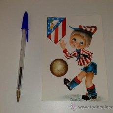 Coleccionismo deportivo: ANTIGUA POSTAL DEL AT. MADRID. AÑOS 70. Lote 26711156