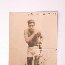 Coleccionismo deportivo: TARJETA POSTAL DE UN BOXEADOR, ALICANTE 1925. Lote 26973592
