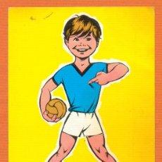Coleccionismo deportivo: POSTAL ANTIGUA - YO JUEGO A BALONMANO - RELIEVES JUAN BASA S. L. - AÑO 1969. Lote 27326848