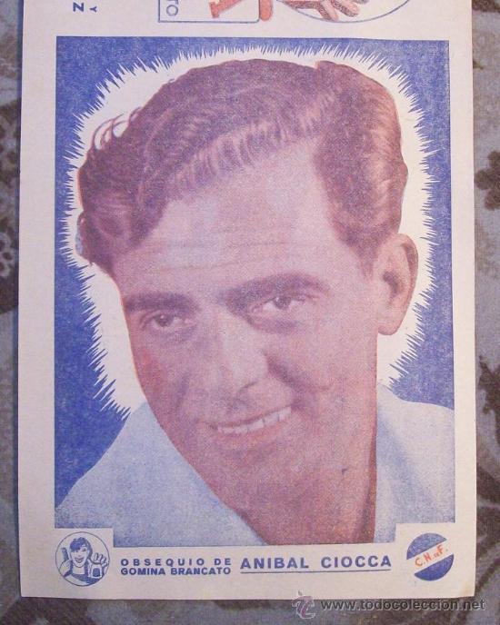 Coleccionismo deportivo: RAUL SCHIAFFINO, PEÑAROL - ANIBAL CIOCCA, NACIONAL - URUGUAY - Foto 2 - 27460730