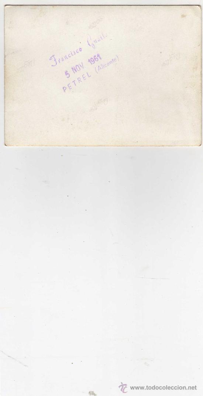 Coleccionismo deportivo: foto echa en petres alicante 1961 - Foto 2 - 27488756