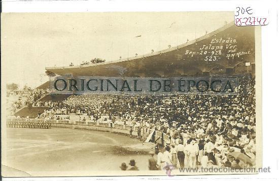 (PS-23742)POSTAL FOTOGRAFICA ESTADIO DE JALAPA(MEXICO) AÑOS 20 (Coleccionismo Deportivo - Postales de otros Deportes )